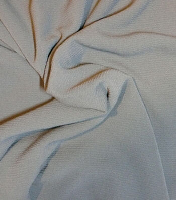 """Silky Solid Crepe Fabric 58""""-Charcoal"""