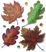 Jolee's Boutique Dimensional Stickers-Vellum Leaves, , hi-res