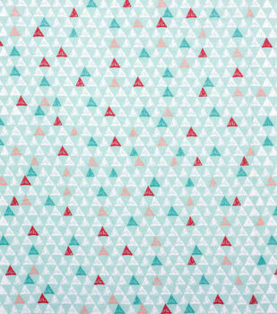 Nursery Flannel Fabric-Mint Geographic Arrows