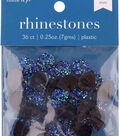 hildie & jo 36 pk 0.25 oz. Plastic Flat Back Rhinestones-Blue Assorted