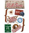 Paper House Baseball 3D Stickers