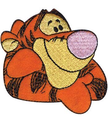 "Disney Winnie The Pooh Iron On Applique-Tigger 3""X2-5/8"" 1/Pkg"