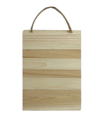 Unfinished Wood 7X5 Rectangle-Cedar Look