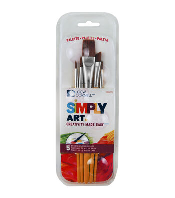 Loew-Cornell Simply Art Paintbrush & Palette Pack
