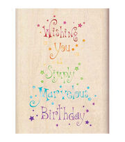 Inkadinkado Marvelous Birthday Wood Mounted Stamp, , hi-res