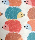 Snuggle Flannel Fabric -Stacked Hedgehogs