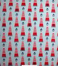 No Sew Fleece Throw Kit 72\u0027\u0027-Lighthouses & Anchors