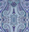 Waverly Paisley Pizzazz Lightweight Decor Fabric 54\u0022-Delft