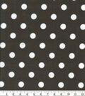 Keepsake Calico Cotton Fabric-Large Dots on Brown
