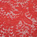 Stretch Knit Fabric-Solid Red Paisley Floral