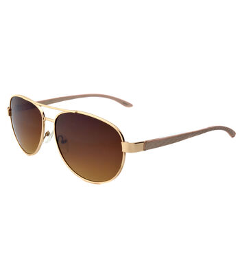 Brown Rose Gold Two Tone Sunglasses