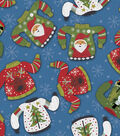 Cotton Print Fabric -Ugly Christmas Sweaters