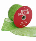Maker\u0027s Holiday Christmas Glitter Mesh Ribbon 2.5\u0027\u0027x25\u0027-Lime Green