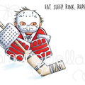 Stamping Bella 2 pk Rubber Cling Stamps-Goalie Squidgy