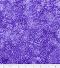 Keepsake Calico Fabric 44\u0027\u0027-Purple Sundrenched Butterfly & Flower