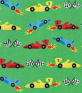 Snuggle Flannel Fabric 42\u0027\u0027-Race Car