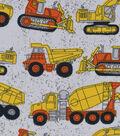 Snuggle Flannel Fabric 42\u0022-Concrete Construction