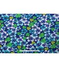 Blizzard Fleece Fabric -Summer Navy Floral