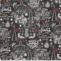 Christmas Cotton Fabric-Farmhouse Holiday on Black