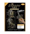 Royal Brush Engraving Art Value Pack-3PK/Rhinoceros, Giraffe, Elephant