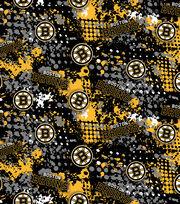 Boston Bruins Cotton Fabric -All Over, , hi-res