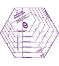 Marti Michell My Favorite Hexagon Ruler-9-1/2\u0022X8-1/2\u0022