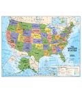 Kids Political USA Education: Grades 4-12 Wall Map, Laminated