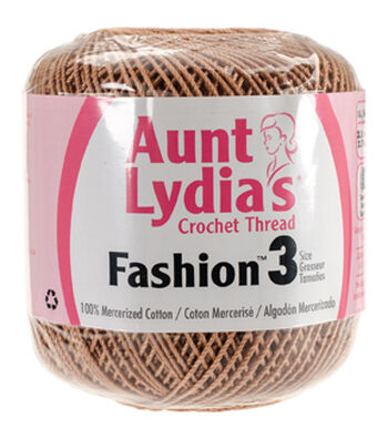 Aunt Lydia's Fashion Crochet Thread Size 3 Pack of 12-Copper Mist