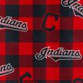 Cleveland Indians Fleece Fabric-Buffalo Plaid