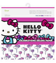 Cricut 12 Pack Hello Kitty Celebrations Deluxe Papers, , hi-res