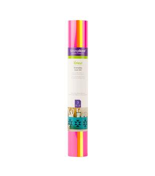 Cricut 3 Sheets 12''x12'' Everyday Iron-on Samplers-Neon Glowsticks