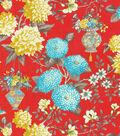 P/K Lifestyles Lightweight Decor Fabric 54\u0022-Lightfoot Garden/Persimmon