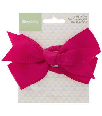Simplicity Large Grosgrain Bow-Dark Pink