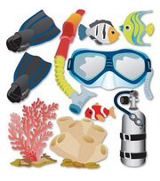 Jolee's Boutique Themed Ornate Stickers-Snorkeling, , hi-res