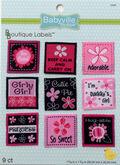 Babyville Pink Floral Labels 9Ct 9 Designs