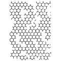 IndigoBlu Cling Mounted Stamp Honeycomb Background