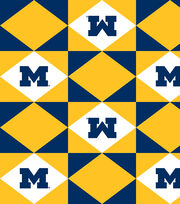 "University of Michigan Wolverines Vinyl Fabric 52""-Logo, , hi-res"