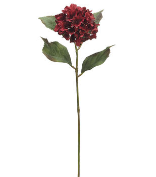 "Bloom Room 26"" Hydrangea Stem-Burgundy"