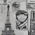 Novelty Cotton Fabric-Paris Stamps