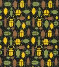 Snuggle Flannel Fabric 42\u0027\u0027-Multi Insects on Dark Ground