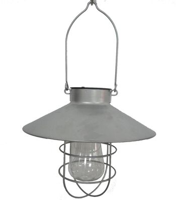 Americana Patriotic Solar LED Lantern-Silver