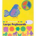 Large Basic Shapes Pegboard Assortment-Square/Circle/Hexagon