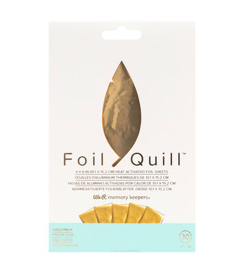 We R Memory Keepers Foil Quill 30 pk 4''x6'' Foil Sheets-Gold Finch