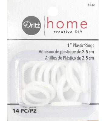 "Dritz Plastic Rings 1"""