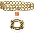 21 inch Chain Strand-Steel Chain, Large Links, Lacquered Brass
