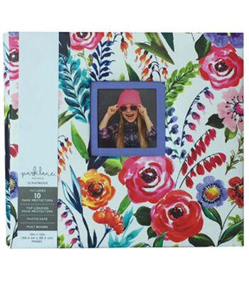 Park Lane 12''x12'' Scrapbook Album-Multicolored Floral