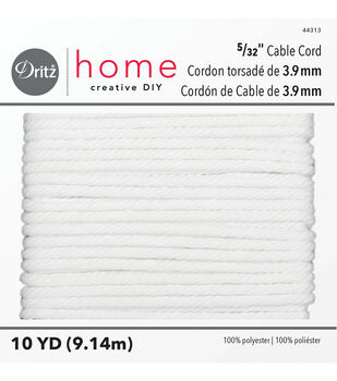 """Dritz Home 10yd 5/32"""" Polyester Cable Cord"""