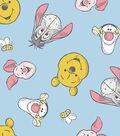 Nursery Flannel Fabric 43\u0022-Pooh Faces