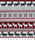 Christmas Cotton Fabric-Holiday Lodge Stripes