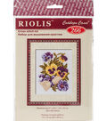 RIOLIS Counted Cross Stitch Kit 5\u0022X6.25\u0022-Pansy Letter